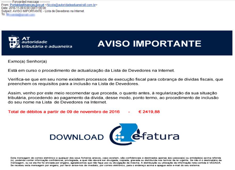 SPAM – Lista de Devedores na Internet (UPDATE 30 Mar 2017)