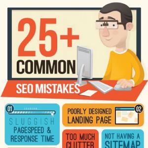25 Erros Comuns de SEO – Infográfico