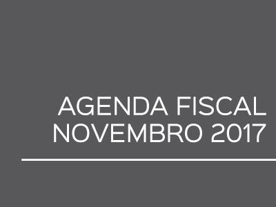 Agenda Fiscal – Novembro 2017