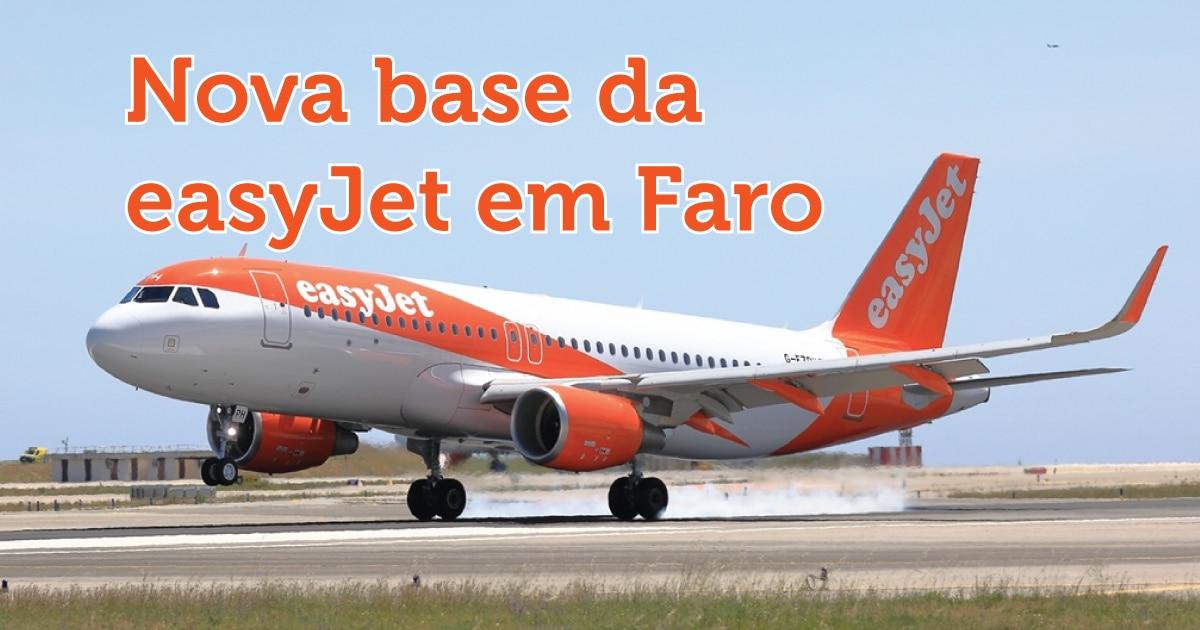 Nova base da easyJet em Faro